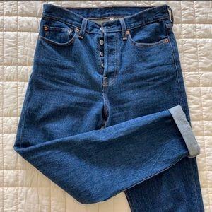 LEVIS high waisted mom jeans dark wash